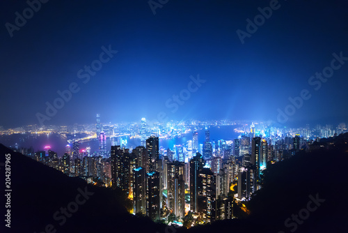 Staande foto Aziatische Plekken Hong kong from the Victoria peak