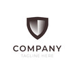 Shield company logo sign
