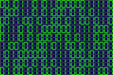 Informatics Background Green 1 And 0. Vector Program Code On Green Background