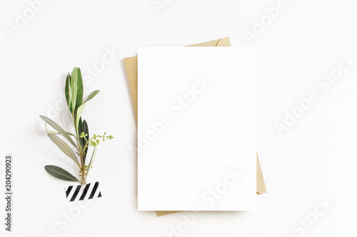 Valokuva  Feminine stationery, desktop mock-up scene