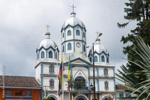 Foto op Canvas Zuid-Amerika land Église de Filandia, Quindío, Colombie