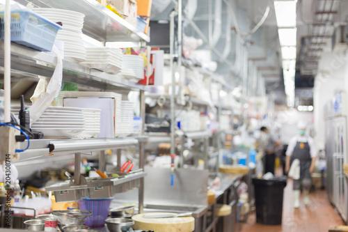 Fototapeta Blurred kitchen obraz na płótnie