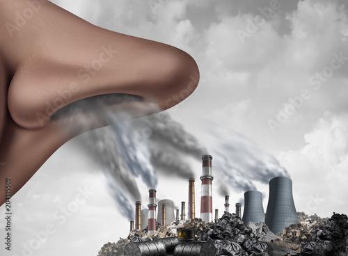 Obraz na plátne Breathing Toxic Pollution