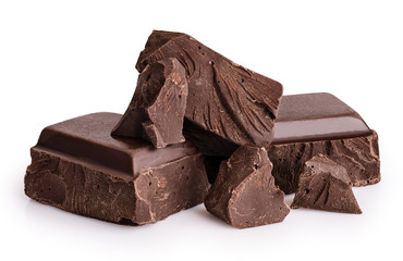 Pieces of dark chocolate is...