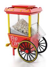 Vintage Popcorn Cart Isolated ...