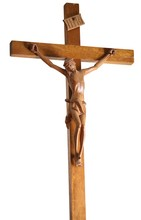 Crucifix In Wood With Jesus Wi...