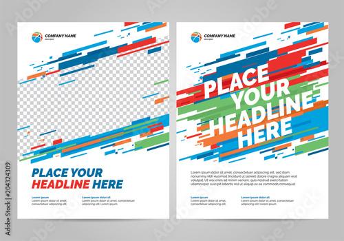 Fototapeta Flyer design sports invitation template. Can be adapt to Brochure, Annual Report, Magazine, Poster. obraz