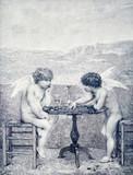 Dwa anioły grają w warcaby - 204327937