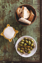 Olives Bread And Mayo