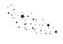Stars On A White Background. B...