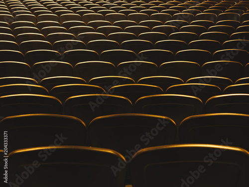 Foto op Aluminium Theater Theatre Seats Audience seat row indoor event hall