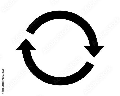 Fotografie, Tablou  Cycle icon vector pictogram