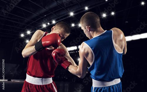 Box professional match on black background