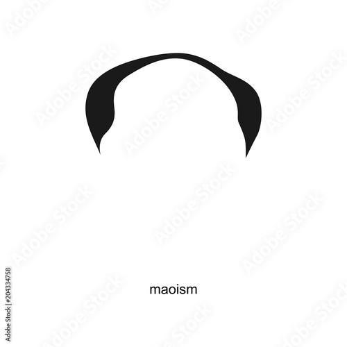 mao figure icon. symbol. vector eps 08. Fototapet