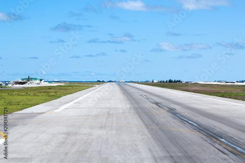 Photo Asphalt airport airstrip