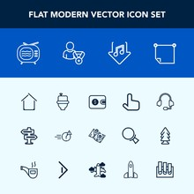 Modern, Simple Vector Icon Set...