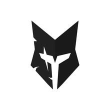 Helmet Of Knight Logo. Armor I...
