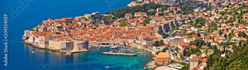 Fotografiet Historic town of Dubrovnik panoramic view