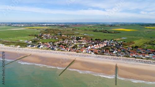 Photo La plage de Sangatte dans le Pas de Calais