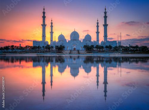 Tuinposter Midden Oosten Sheikh Zayed bin Sultan Al Nahyan Grand Mosque
