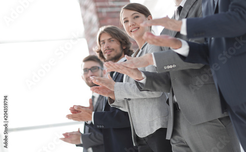 Fototapeta Business people hands applauding obraz na płótnie