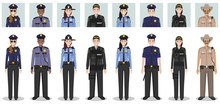 Police People Concept. Set Of ...