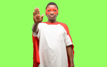 African Black Super Hero Man A...