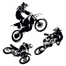 Motocross Extreme Silhouette Set