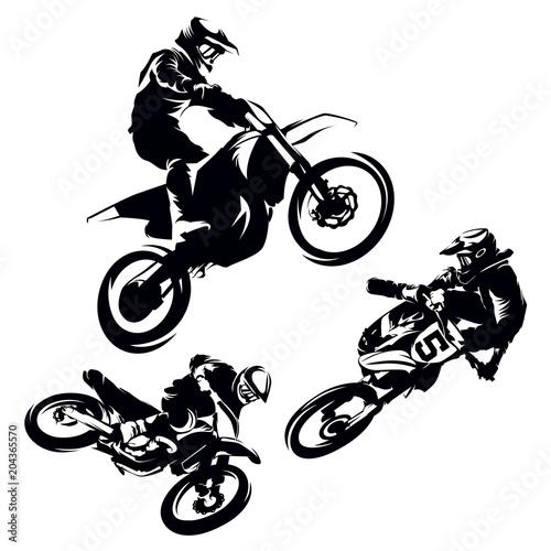Fotografía  Motocross Extreme Silhouette Set