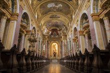Dominican Church In Vienna. Famous Baroque Church
