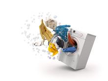 Washing Machine And Flying Clo...
