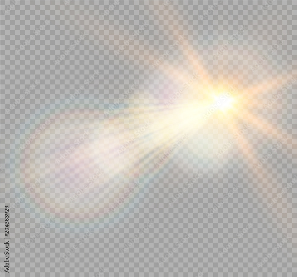 Fototapety, obrazy: Vector transparent sunlight special lens flare light effect. Christmas abstract pattern. Sparkling magic dust particles