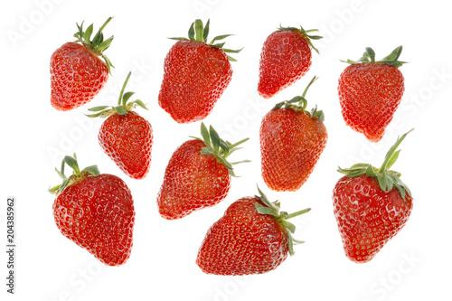 Photo Erdbeeren freigestellt