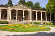 canvas print picture - Baden-Baden, Germany. The Trinkhalle (Pump House), a building in the Kurhaus spa complex, with a 90-metre arcade colonnade lined with frescos and benches