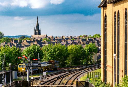 Foto auf AluDibond Bahnhof Train Station harrogate UK