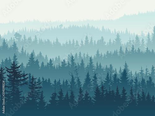 Naklejki na szafę zamglone-drzewa