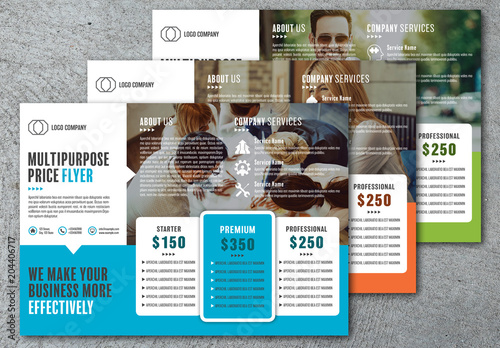 business services price flyer layout buy this stock template and