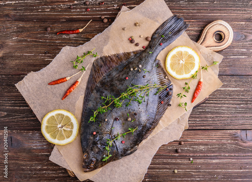 Tablou Canvas Cooking flounder fish