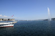 Geneva Jet d'Eau (water jet) and marina, Swiss