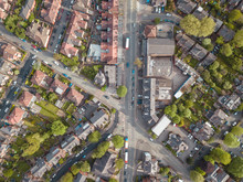 Residential Houses Drone Above...