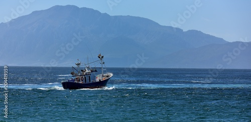 Fishing boat heading for Africa