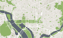Vector Map Of The City Of Wash...