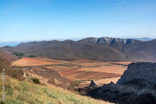 Foto op Aluminium Blauw Mountain landscape