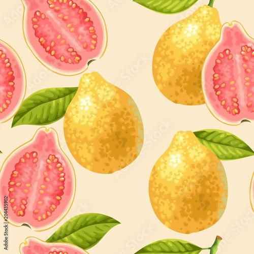 Bezszwowe owoce guawa