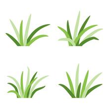Set Of Grass Tufts, Clip Art, ...