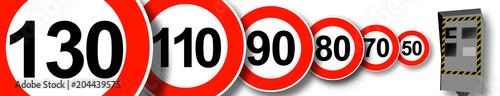 Fotografía Limitations de vitesse en France, justice, radar