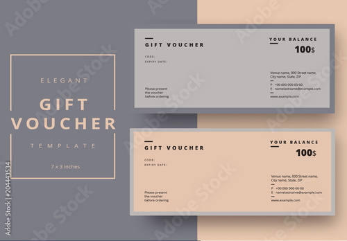 gift voucher layout with minimalist design buy this stock template