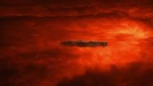 Spaceship In Raging Atmosphere...