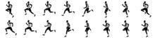 Man Run Cycle And Jogging Animation Spite Sheet
