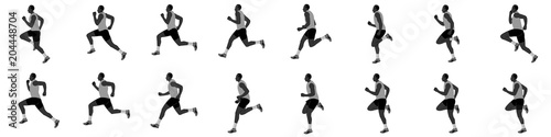 Tablou Canvas man run cycle and jogging animation spite sheet